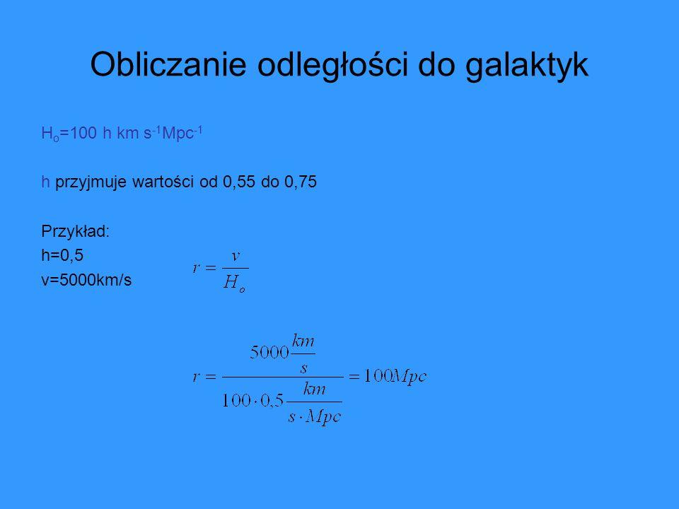 Parametr gęstości Ω o Jeśli k=0, to gęstość krytyczna ρ c jest równa: