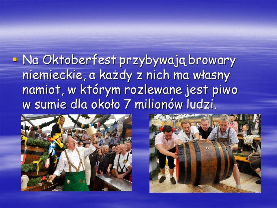 Oktoberfest to święto rodzinne połączone z wieloma atrakcjami, takimi jak karuzele, pochody i muzyka.