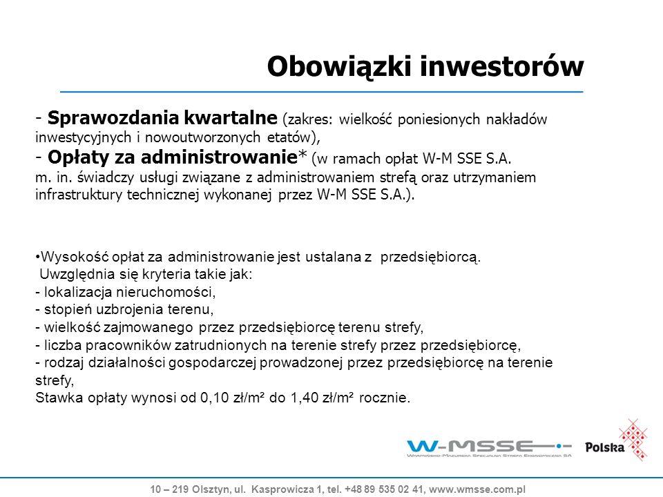 Obowiązki inwestorów 10 – 219 Olsztyn, ul. Kasprowicza 1, tel.