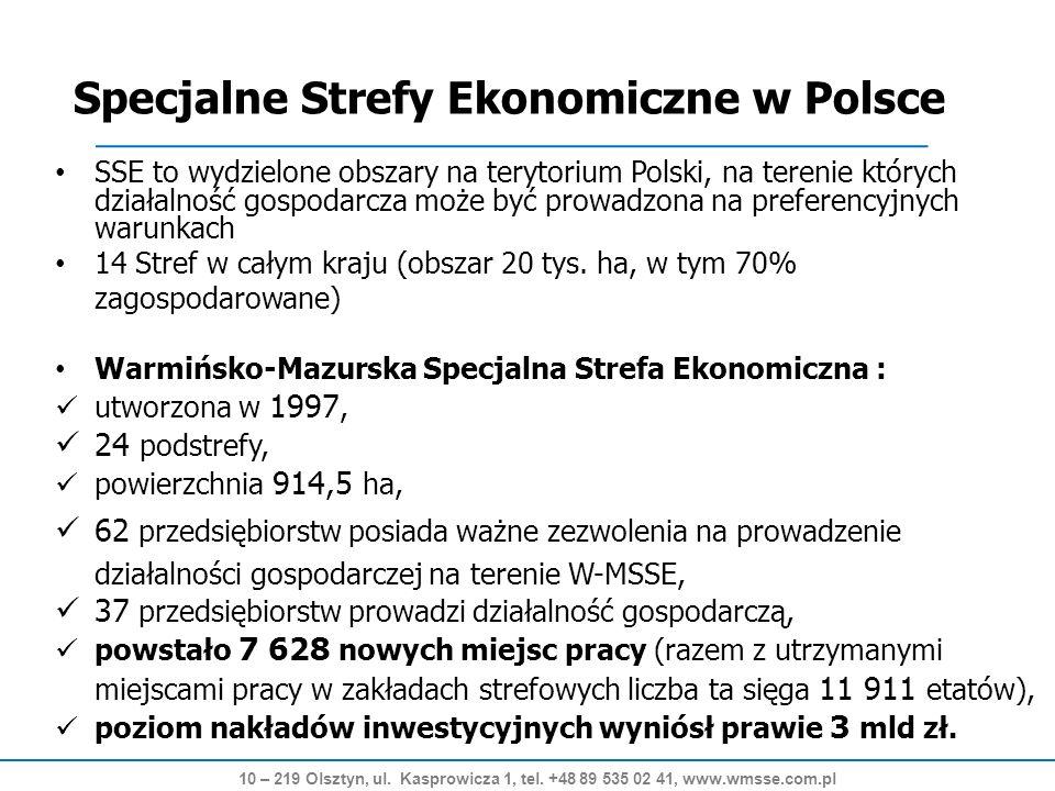 24 lokalizacje Dostępne 300 ha Grunty inwestycyjne 10 – 219 Olsztyn, ul.