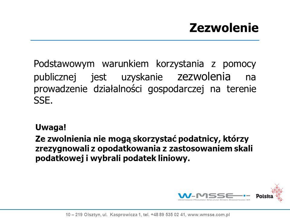 Podstrefa Mława 58,8 ha - 1,5 ha do zagospodarowania 10 – 219 Olsztyn, ul.
