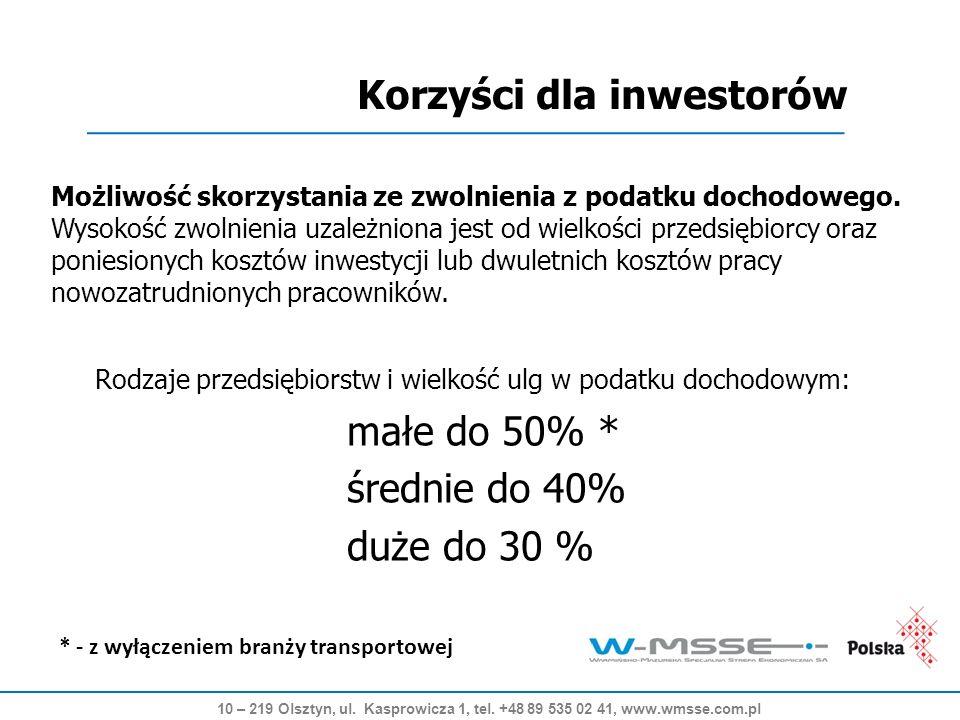 Zapraszamy do współpracy Warmińsko-Mazurska Specjalna Strefa Ekonomiczna S.A.