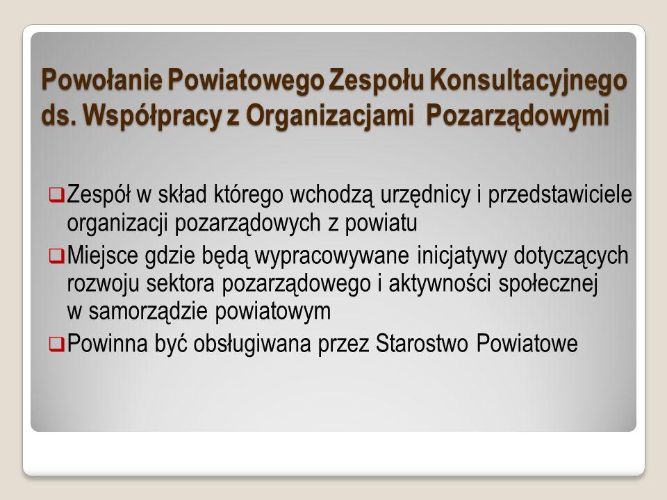 Powołanie Powiatowego Zespołu Konsultacyjnego ds.