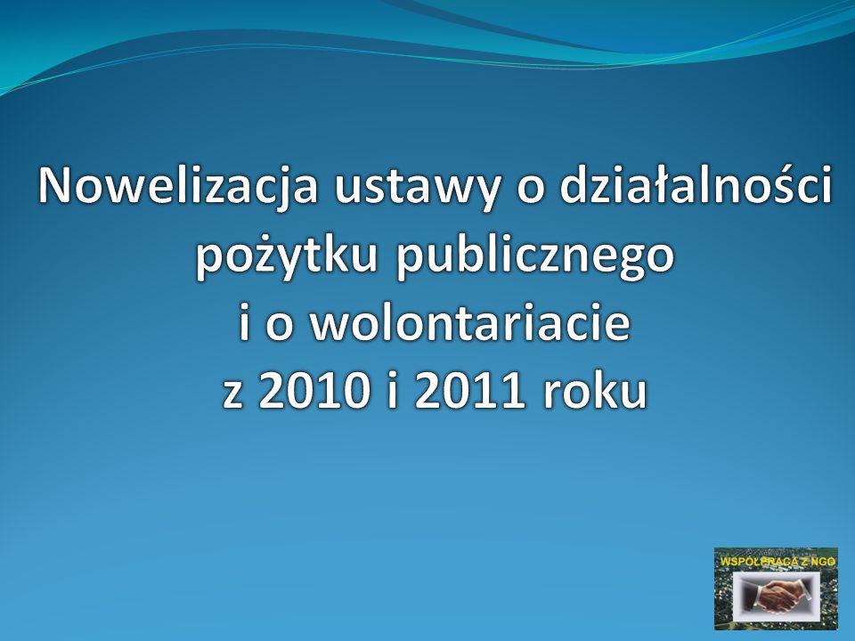 Nowelizacja ustawy z 2011 roku Redukcja obowiązków sprawozdawczych Znosi się obowiązek przesyłania Ministrowi Pracy i Polityki Społecznej sprawozdań finansowych i merytorycznych z działalności w wersji papierowej Sprawozdania za 2011 r.