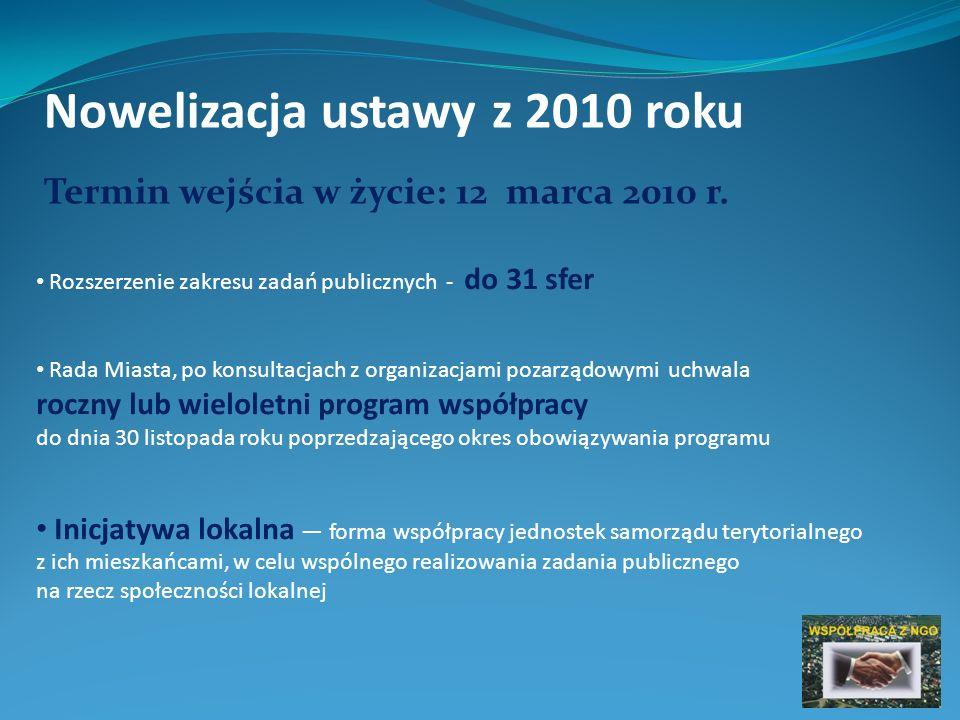 Nowelizacja ustawy z 2011 roku Nowy wzór sprawozdania (będzie obowiązywał od dnia 1 stycznia 2013 r.) Organizacje, których przychód nie przekroczył 100 000 zł w danym roku będą zamieszczać na stronie internetowej urzędu obsługującego ministra właściwego do spraw zabezpieczenia społecznego, sprawozdanie merytoryczne z działalności w formie uproszczonego sprawozdania merytorycznego, którego wzór określi rozporządzenie.
