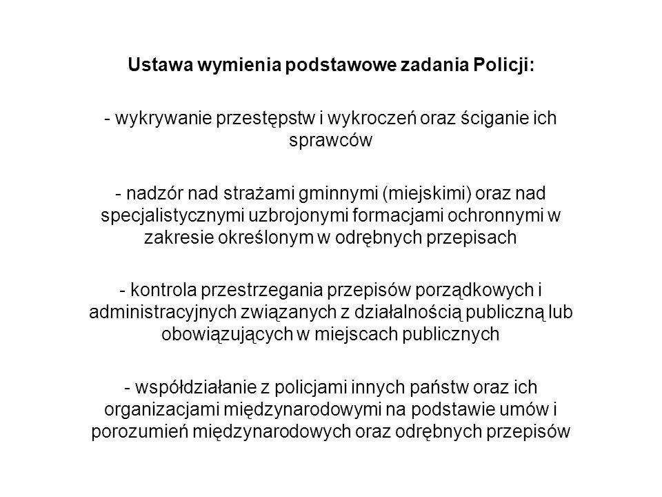 Rozdział 7 Obowiązki i prawa policjanta Ustawa określa związanie policjanta rotą jego ślubowania oraz obowiązek niewykonania rozkazu lub polecenia które łączyłoby się z popełnieniem przestępstwa.