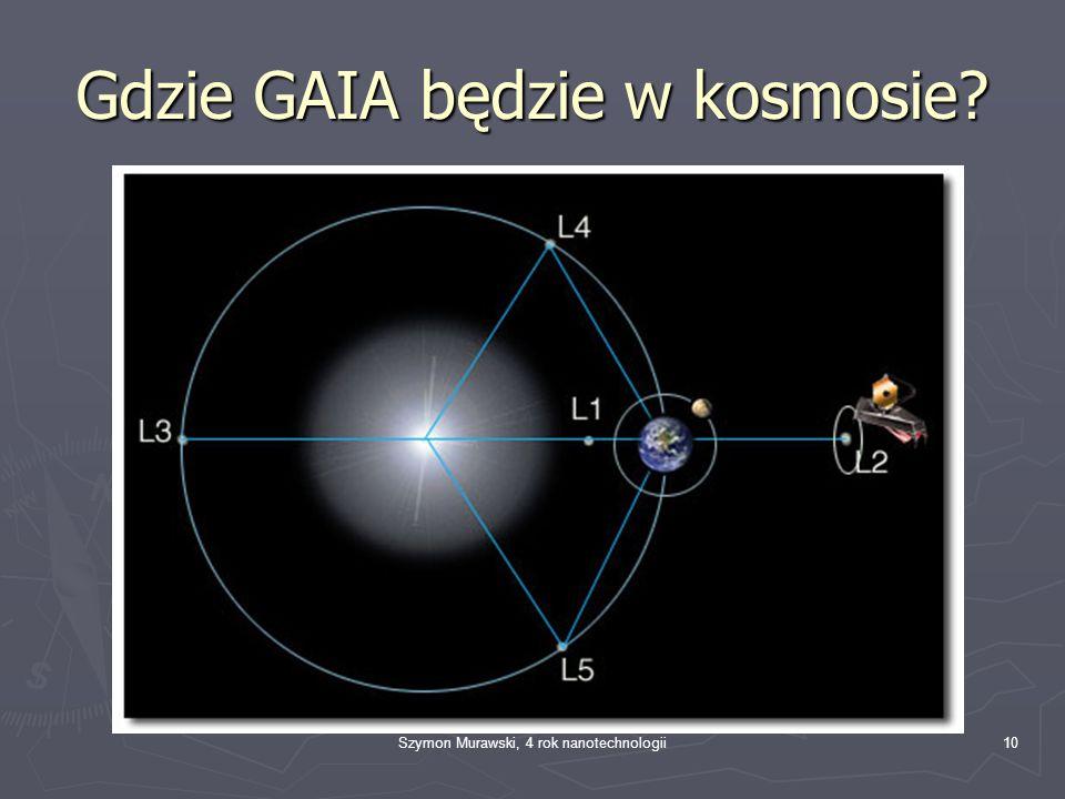Szymon Murawski, 4 rok nanotechnologii10 Gdzie GAIA będzie w kosmosie?