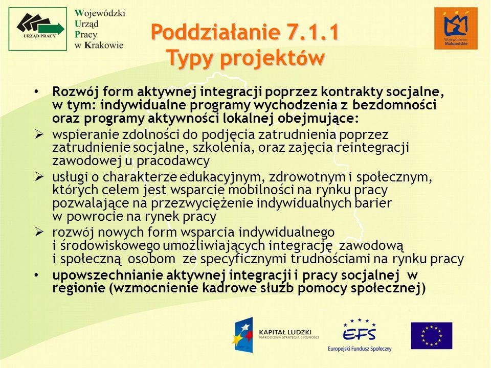 Rozw ó j form aktywnej integracji poprzez kontrakty socjalne, w tym: indywidualne programy wychodzenia z bezdomności oraz programy aktywności lokalnej