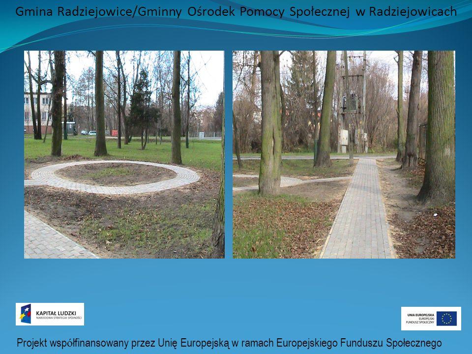 Projekt wsp ó łfinansowany przez Unię Europejską w ramach Europejskiego Funduszu Społecznego Gmina Radziejowice/Gminny Ośrodek Pomocy Społecznej w Radziejowicach