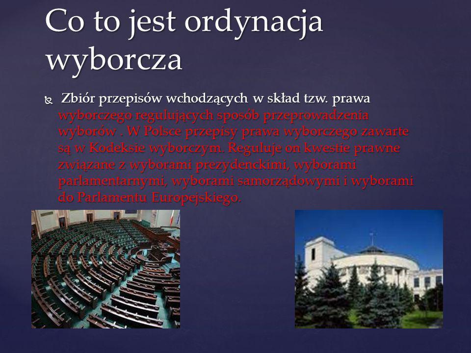 Zbiór przepisów wchodzących w skład tzw. prawa wyborczego regulujących sposób przeprowadzenia wyborów. W Polsce przepisy prawa wyborczego zawarte są w