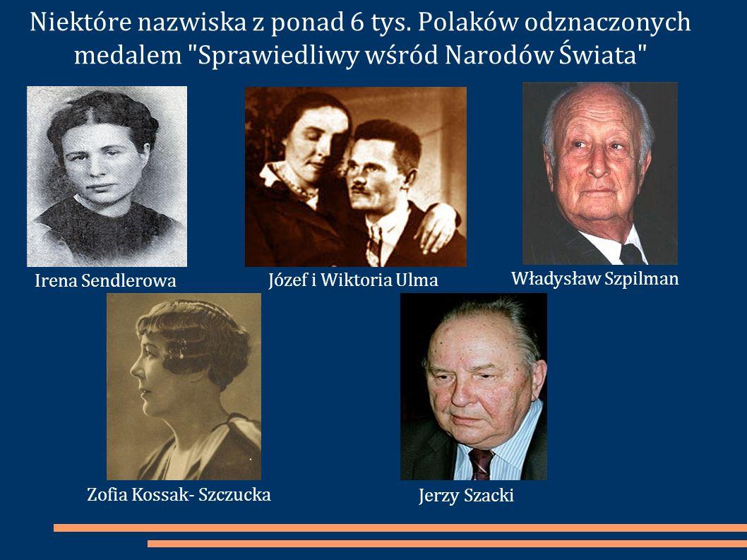 Niektóre nazwiska z ponad 6 tys. Polaków odznaczonych medalem