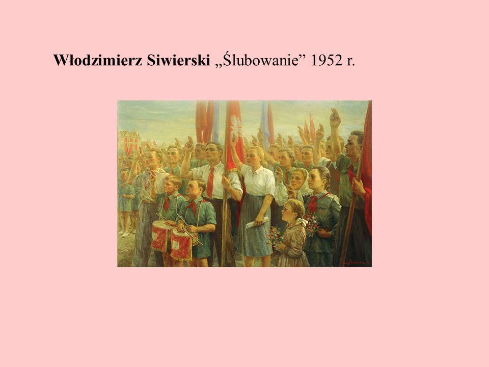 Włodzimierz Siwierski Ślubowanie 1952 r.