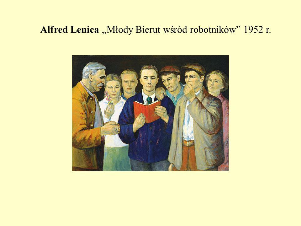 Alfred Lenica Młody Bierut wśród robotników 1952 r.