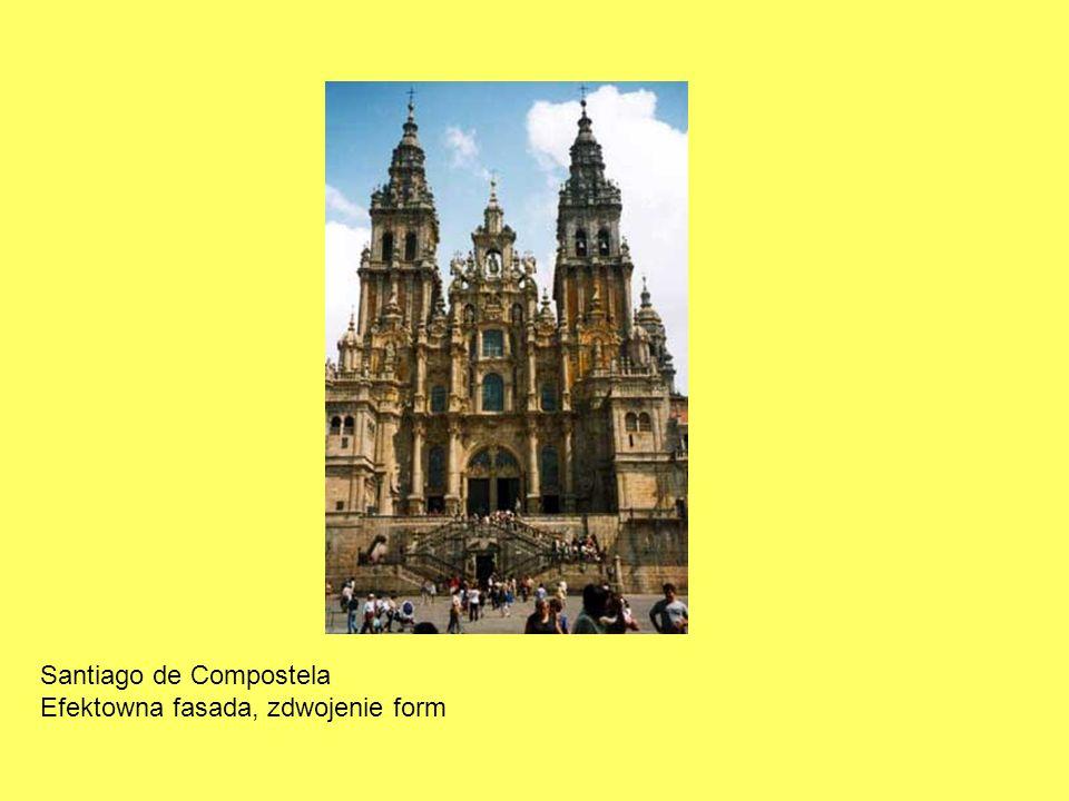Santiago de Compostela Efektowna fasada, zdwojenie form