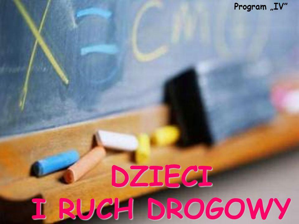DZIECI I RUCH DROGOWY Program IV