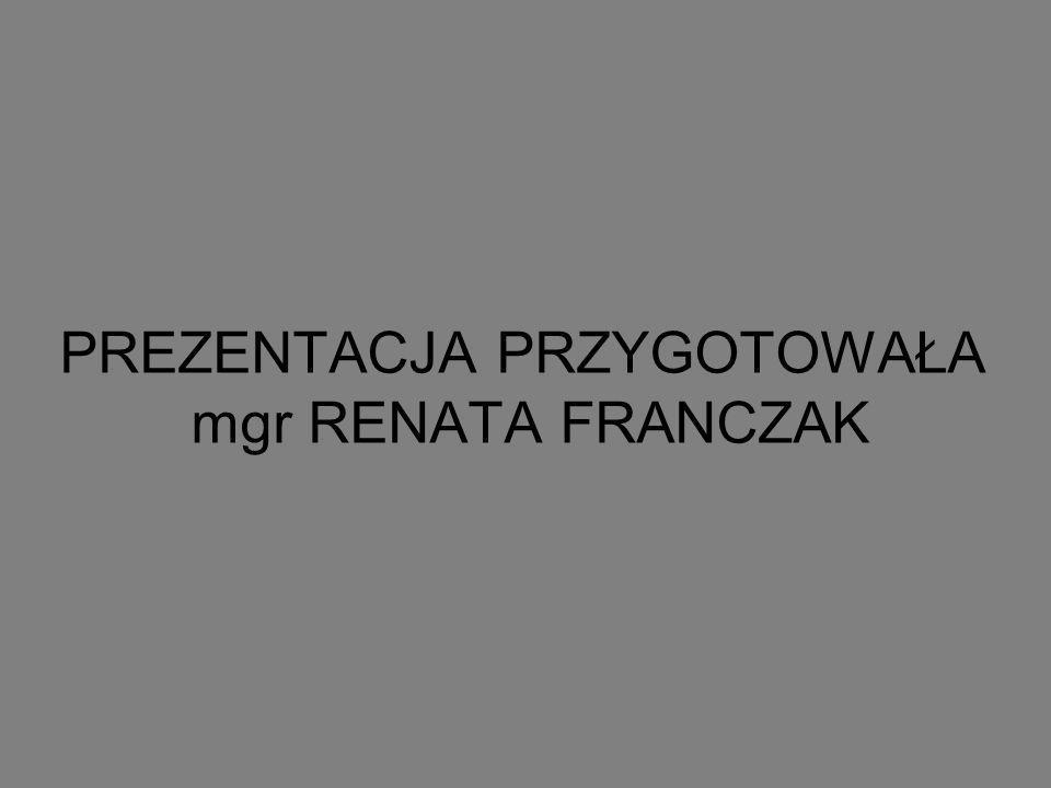 PREZENTACJA PRZYGOTOWAŁA mgr RENATA FRANCZAK