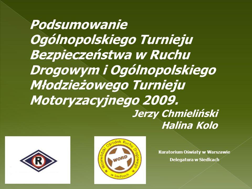 Podsumowanie Ogólnopolskiego Turnieju Bezpieczeństwa w Ruchu Drogowym i Ogólnopolskiego Młodzieżowego Turnieju Motoryzacyjnego 2009.