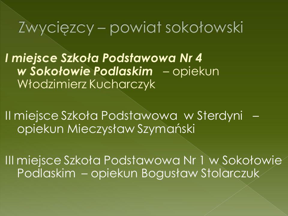 I miejsce - Publiczne Gimnazjum Nr 1 w Siedlcach II miejsce - Publiczne Gimnazjum im.