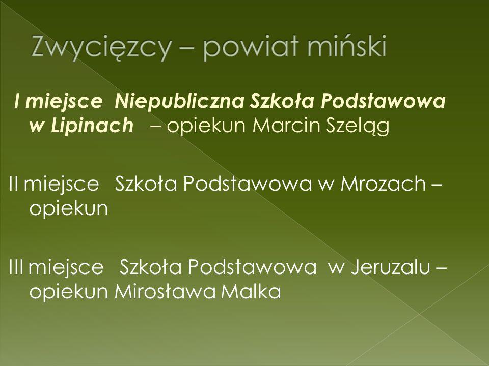 Gimnazjum Nr 1 w Siedlcach – 5 miejsce Publiczne Gimnazjum w Ceranowie – 8 miejsce
