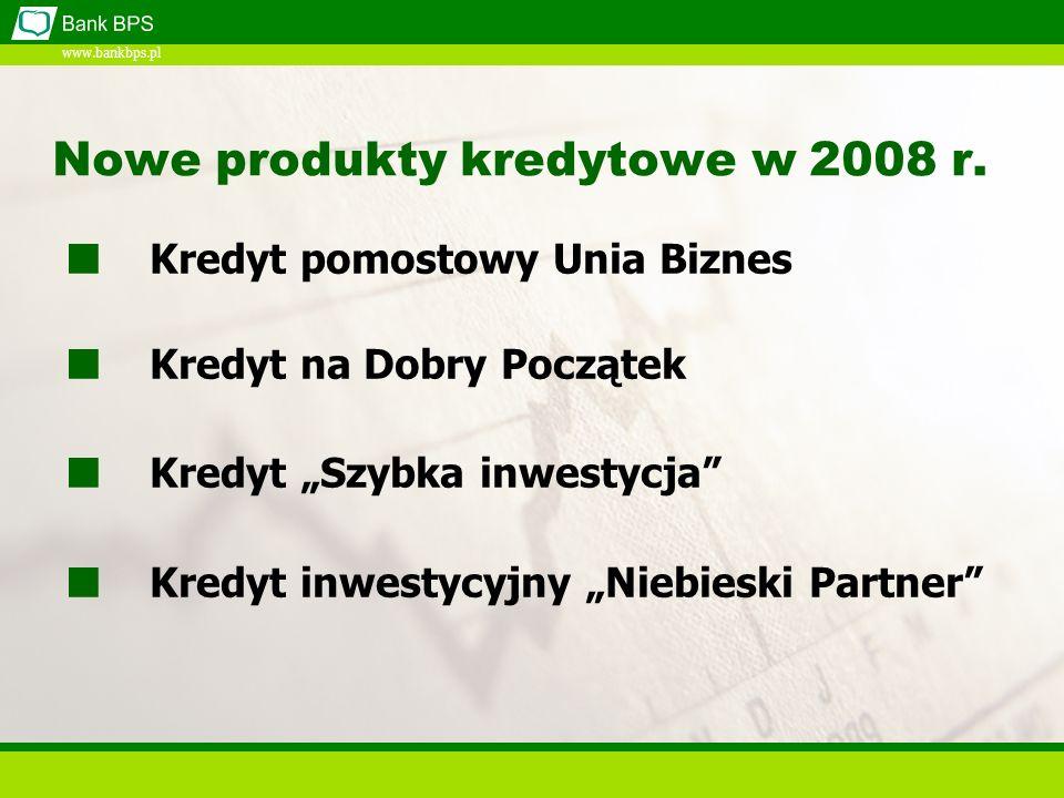 www.bankbps.pl Kredyty pomostowe Proste i przejrzyste procedury ubiegania się o kredyt Elastyczne podejście Banku w ocenie projektu Spłata kredytu ze środków dotacji Konkurencyjna cena kredytu ZALETY