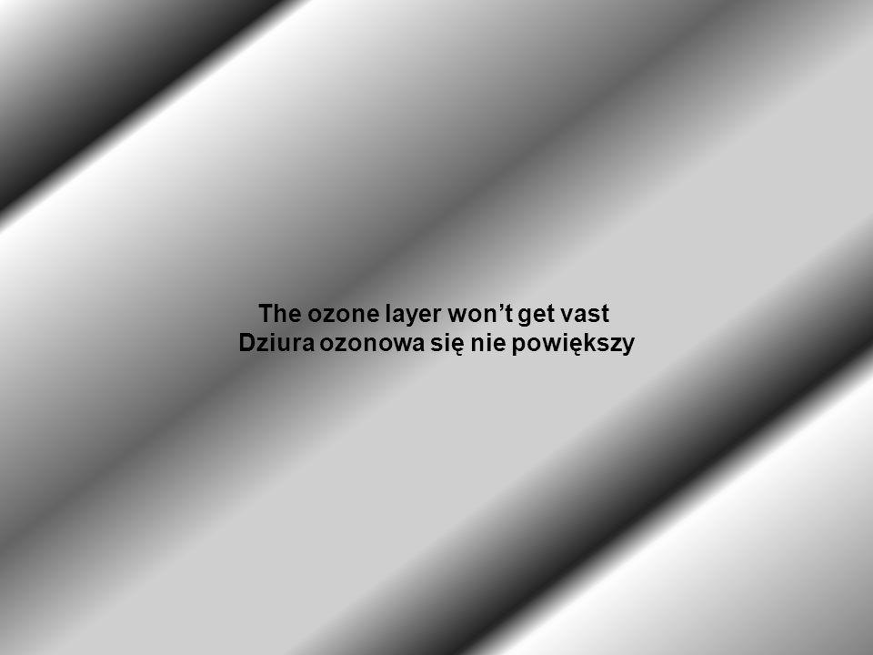 The ozone layer wont get vast Dziura ozonowa się nie powiększy