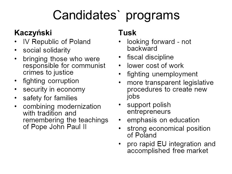 The principal problem of democracy in Poland it s not the deficit of democratic potential of polish society, but a lack of the elites that would be able to evaluate the needs of people and to act in favour of potential modernization on the base of these needs 2.