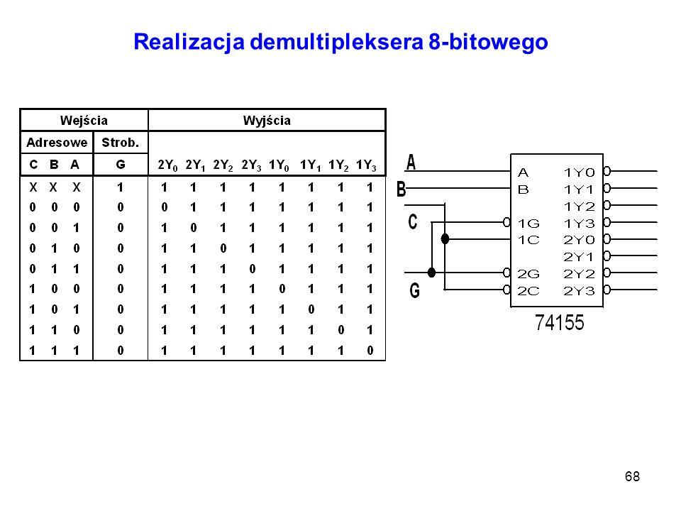 68 Realizacja demultipleksera 8-bitowego