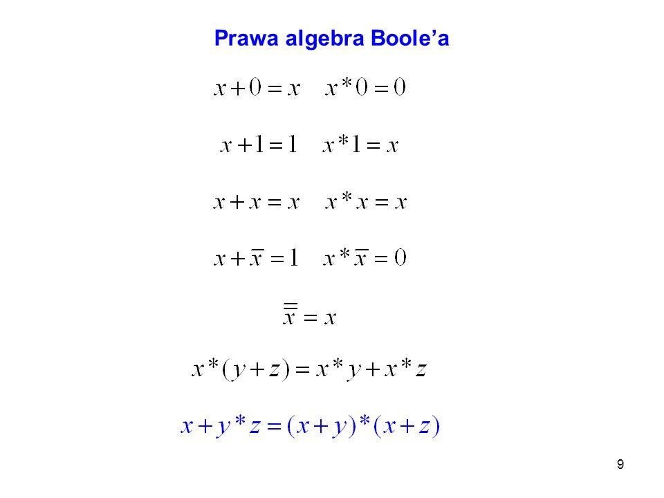 9 Prawa algebra Boolea