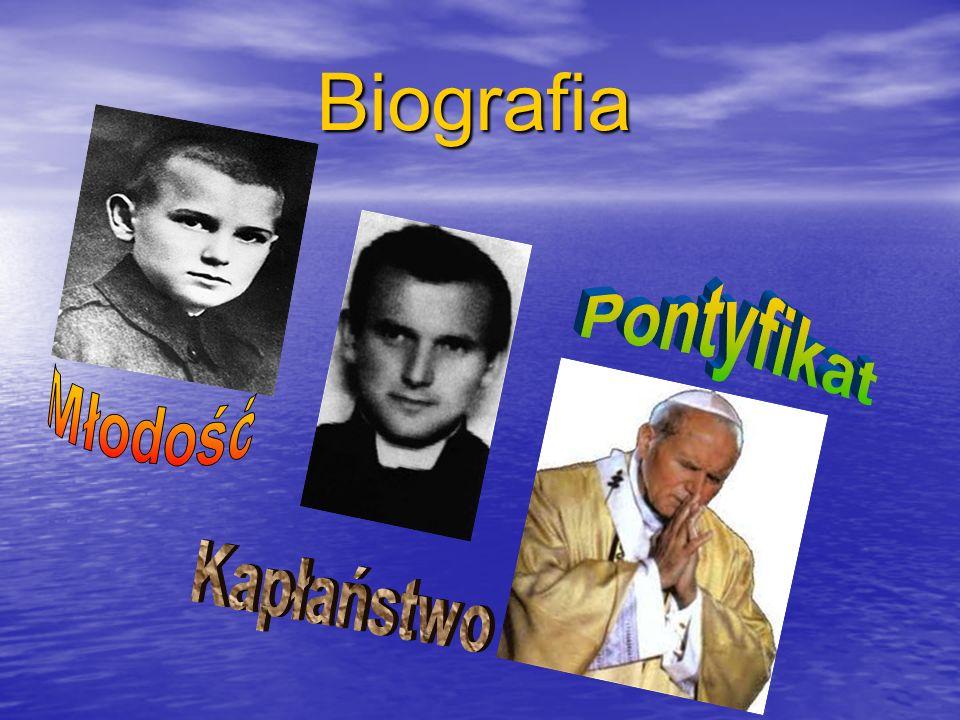 Młodość papieża Karol Wojtyła urodził się 18 maja 1920 roku w Wadowicach jako drugie dziecko Karola Wojtyły seniora i Emilii z Kaczorowskich.
