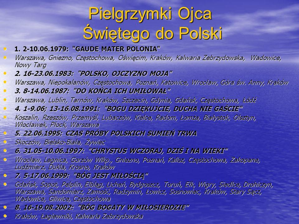 Pielgrzymki Ojca Świętego do Polski 1. 2-10.06.1979: