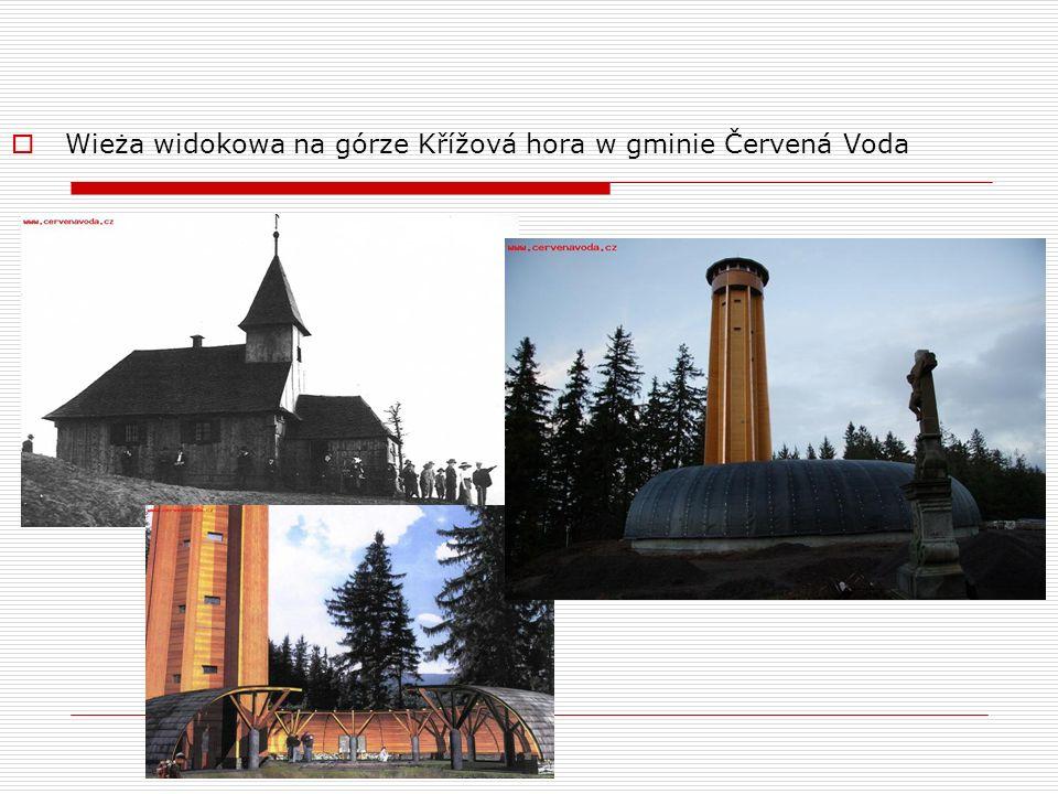 Wieża widokowa na górze Křížová hora w gminie Červená Voda