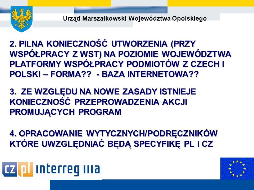 Urząd Marszałkowski Województwa Opolskiego 8 5.