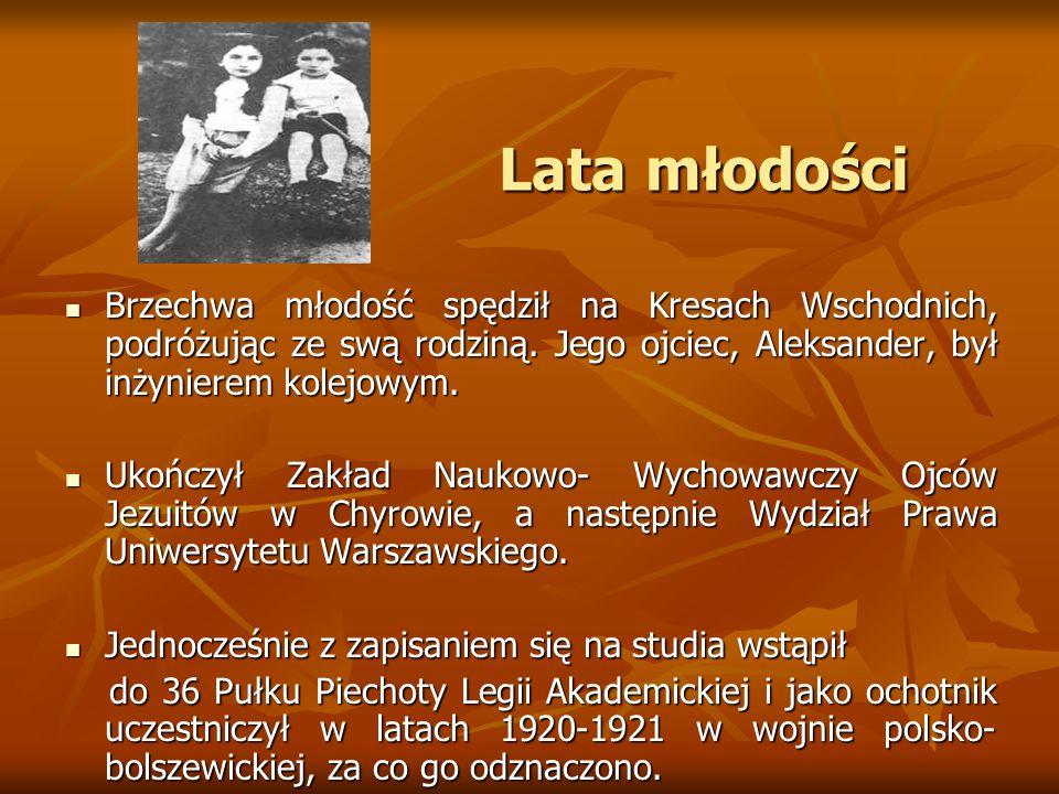 Lata młodości Lata młodości Brzechwa młodość spędził na Kresach Wschodnich, podróżując ze swą rodziną. Jego ojciec, Aleksander, był inżynierem kolejow