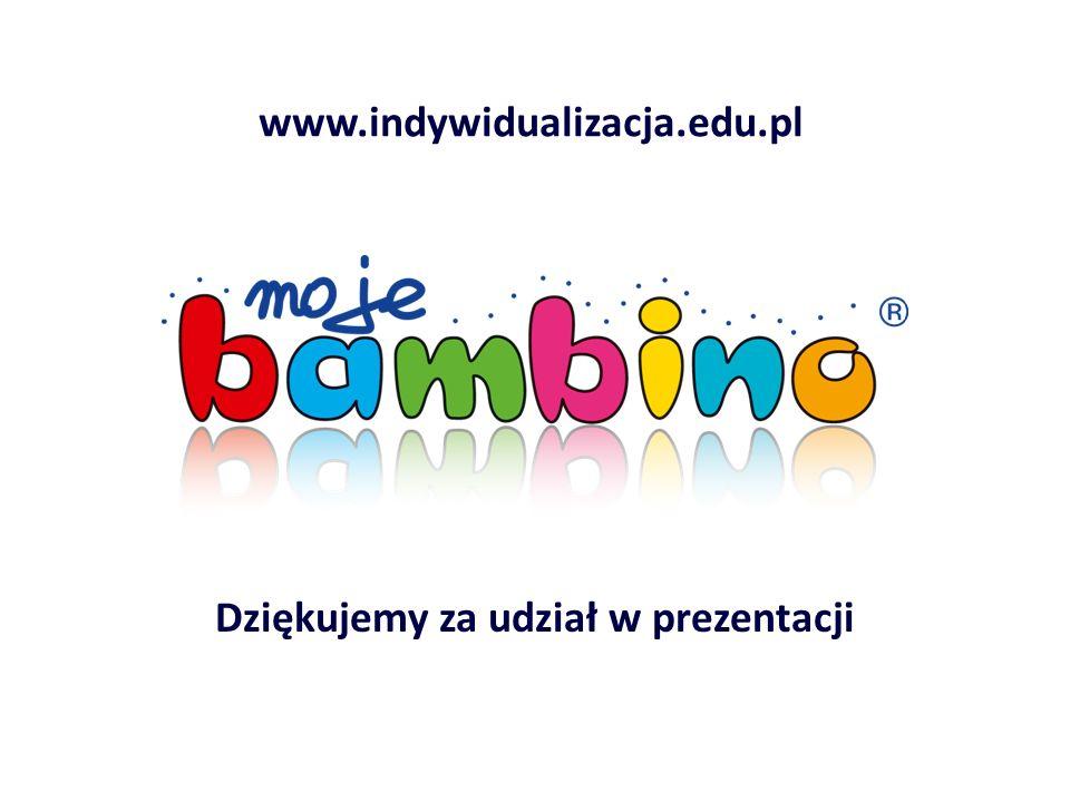 Dziękujemy za udział w prezentacji www.indywidualizacja.edu.pl