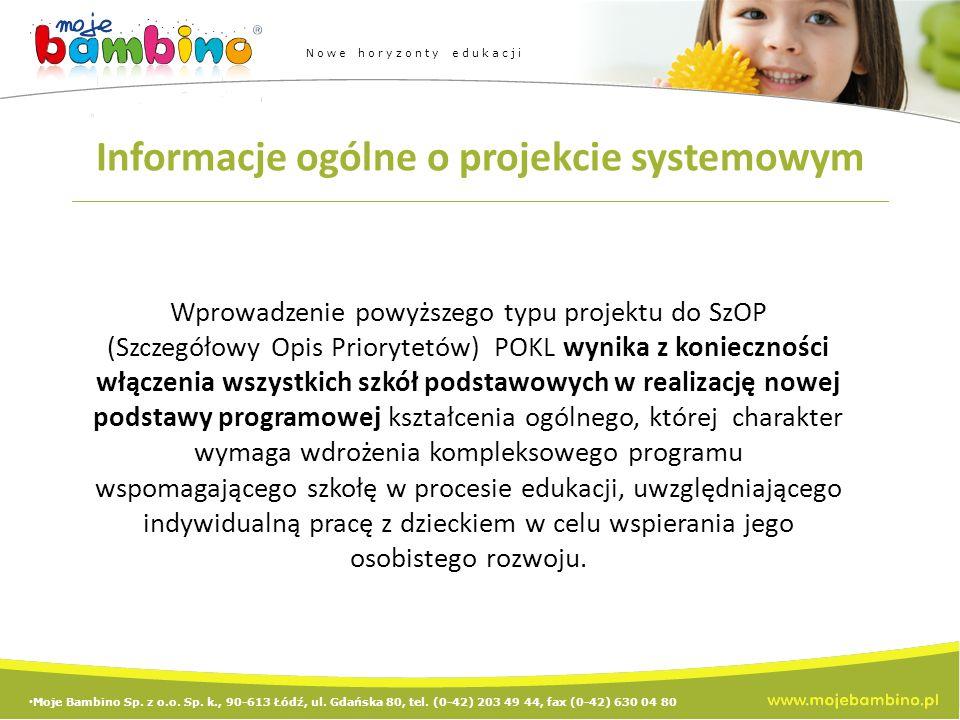 Moje Bambino Sp.z o.o. Sp. k., 90-613 Łódź, ul. Gdańska 80, tel.