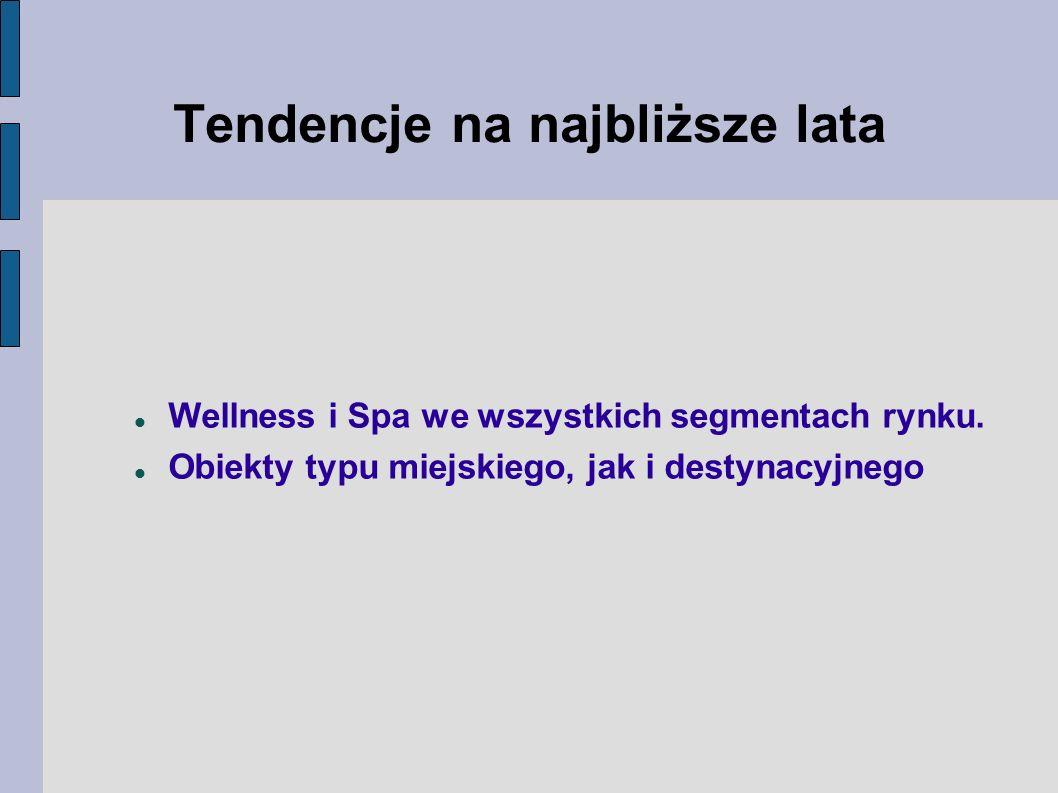 Wellness i Spa we wszystkich segmentach rynku.