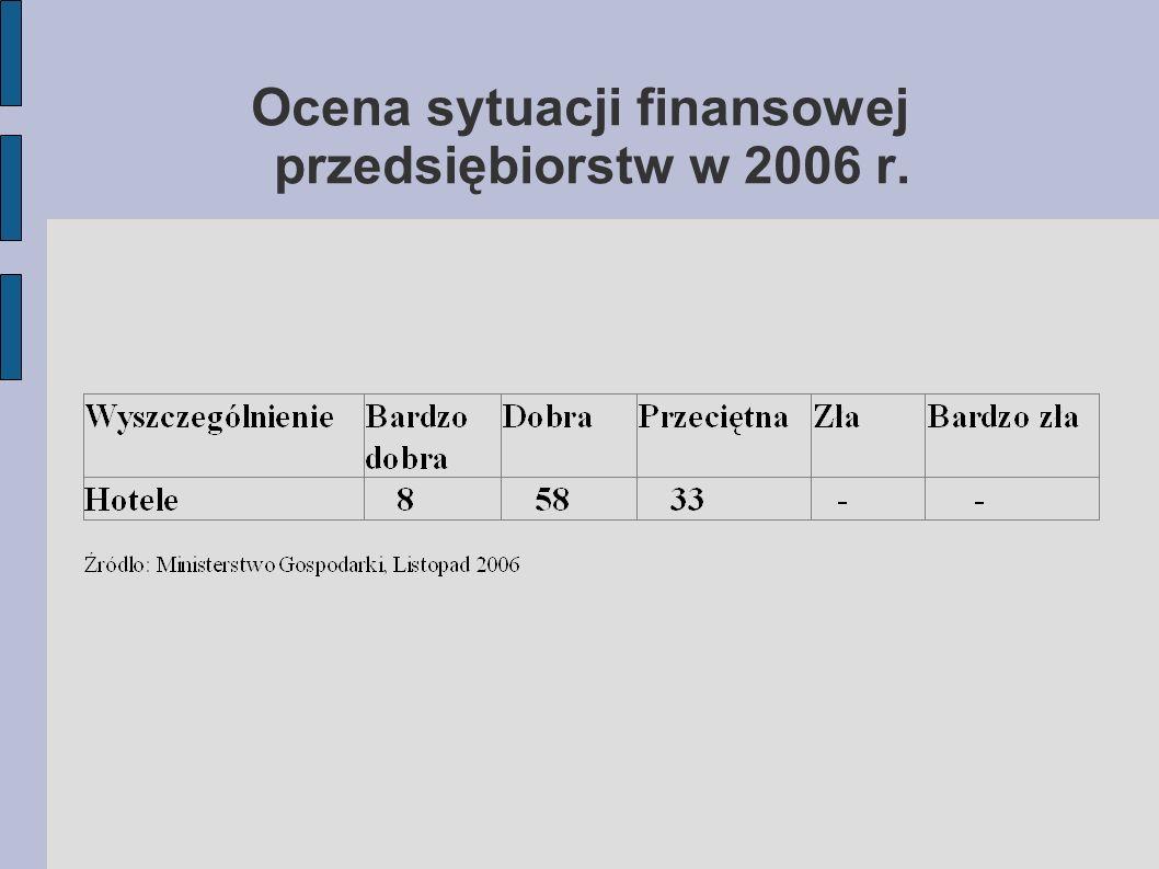 Ocena sytuacji finansowej przedsiębiorstw w 2006 r.