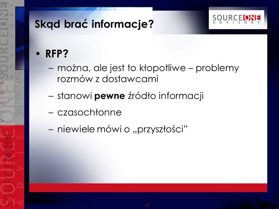 47 Skąd brać informacje. RFP.