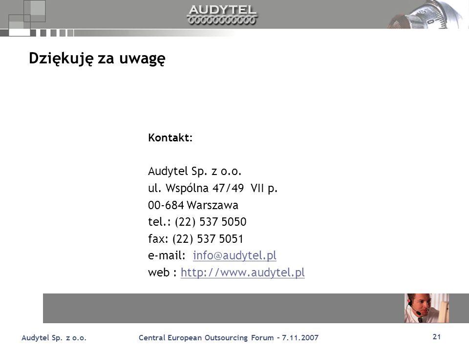 21 Audytel Sp.z o.o.