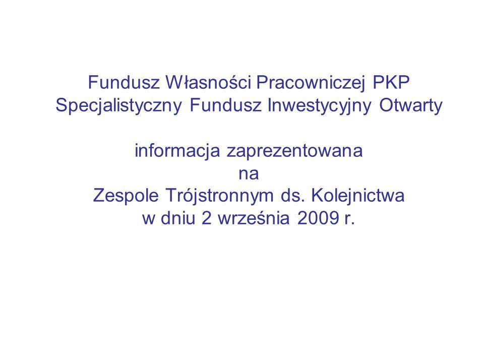 Fundusz Własności Pracowniczej PKP Specjalistyczny Fundusz Inwestycyjny Otwarty informacja zaprezentowana na Zespole Trójstronnym ds. Kolejnictwa w dn