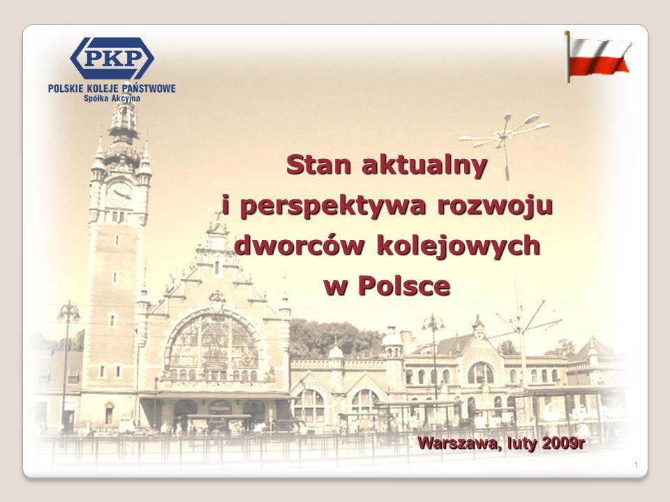 1 Stan aktualny i perspektywa rozwoju dworców kolejowych w Polsce Warszawa, luty 2009r