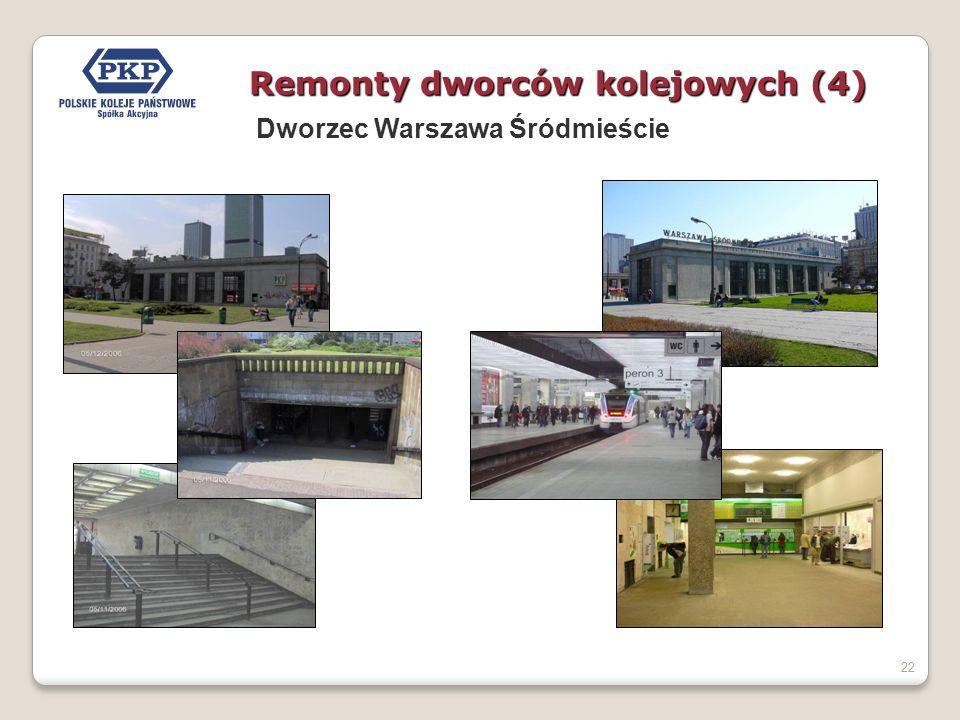 22 Remonty dworców kolejowych (4) Dworzec Warszawa Śródmieście