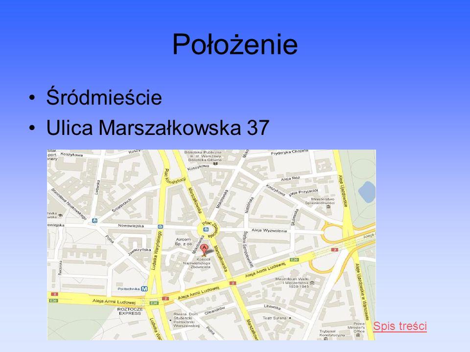 Położenie Śródmieście Ulica Marszałkowska 37 Spis treści