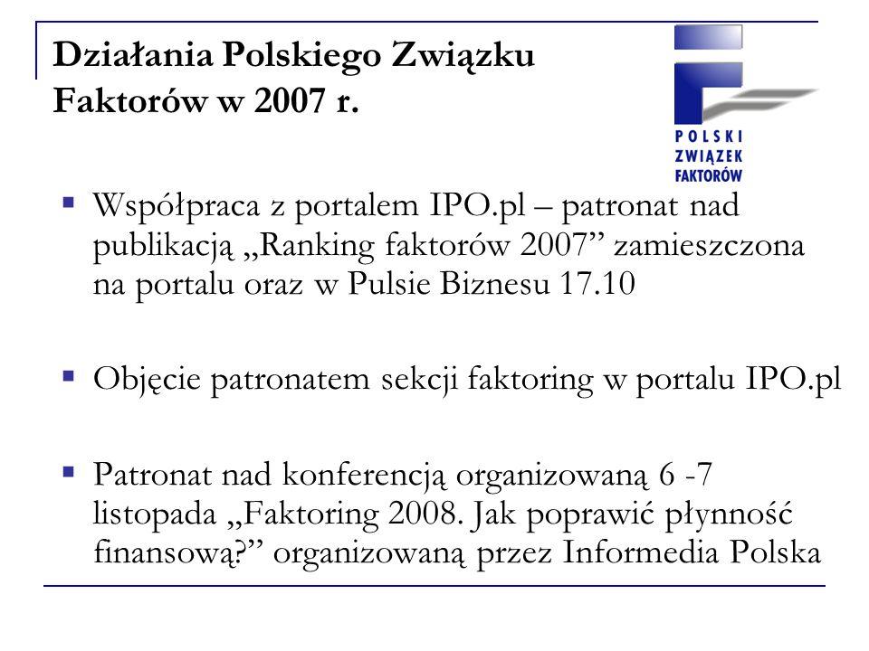 Działania Polskiego Związku Faktorów w 2007 r.