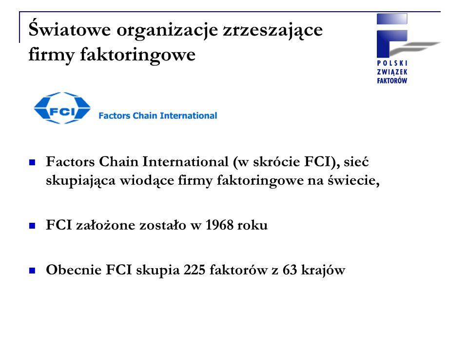 Factors Chain International (w skrócie FCI), sieć skupiająca wiodące firmy faktoringowe na świecie, FCI założone zostało w 1968 roku Obecnie FCI skupi