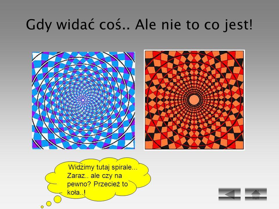 Gdy widać coś.. Ale nie to co jest! Widzimy tutaj spirale... Zaraz.. ale czy na pewno? Przecież to koła..!
