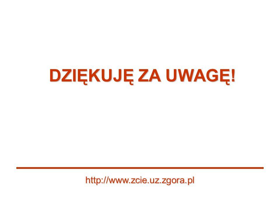 DZIĘKUJĘ ZA UWAGĘ! http://www.zcie.uz.zgora.pl