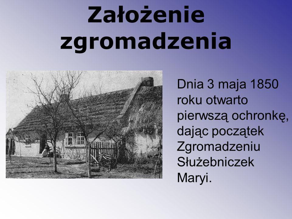 Pierwszy nowicjat w Jaszkowie W roku 1856 dzięki Edmundowi Bojanowskiemu powstał nowicjat dla Zgromadzenia Służebniczek Bogarodzicy.