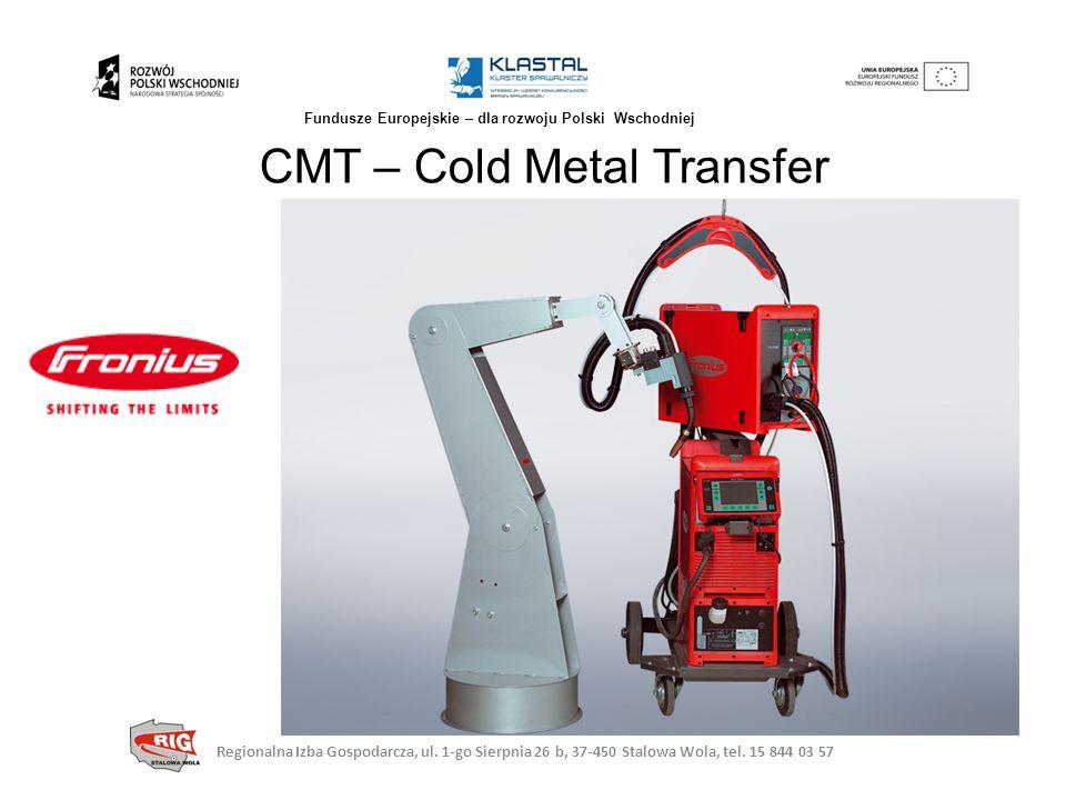 CMT – Cold Metal Transfer Regionalna Izba Gospodarcza, ul. 1-go Sierpnia 26 b, 37-450 Stalowa Wola, tel. 15 844 03 57 Fundusze Europejskie – dla rozwo