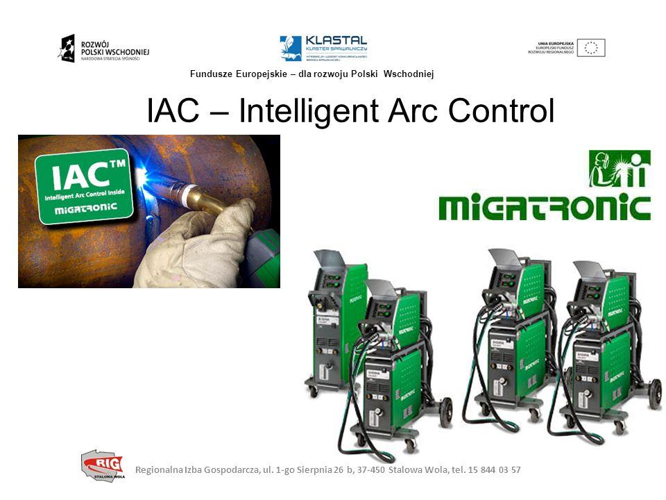 IAC – Intelligent Arc Control Regionalna Izba Gospodarcza, ul. 1-go Sierpnia 26 b, 37-450 Stalowa Wola, tel. 15 844 03 57 Fundusze Europejskie – dla r